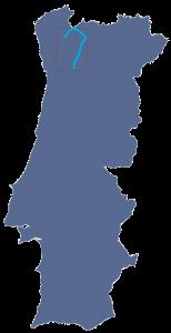 kaart van Portugal met Barroso